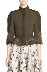 Women's Alexander Mcqueen Cotton Military Peplum Jacket