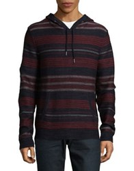 Lucky Brand Striped Hoodie Red Multi
