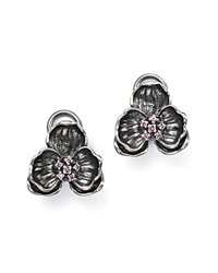 Michael Aram Sterling Silver Black Rhodium Plated Small Orchid Stud Earrings