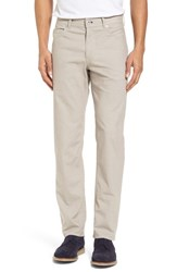 Brax 'S Cooper Bird's Eye Stretch Cotton Pants Beige