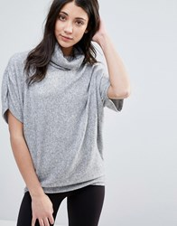 Y.A.S Jenna Roll Neck Top Gray