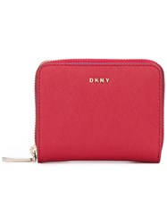 Dkny Small Carryall Wallet Women Leather One Size Red