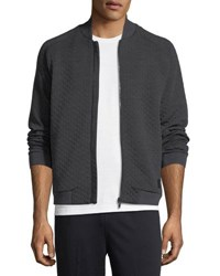 Zegna Sport Techmerino Matelasse Zip Sweatshirt Dark Gray