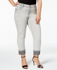 Inc International Concepts Plus Size Cuffed Skinny Jeans Only At Macy's Grey