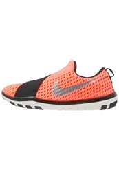 Nike Performance Free Connect Sports Shoes Bright Mango Metallic Silver Black Summit White Orange