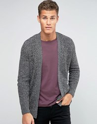 Pull And Bear Pullandbear Cardigan In Dark Grey Marl Grey
