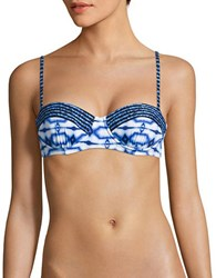 Michael Kors Printed Balconette Bikini Top Blue