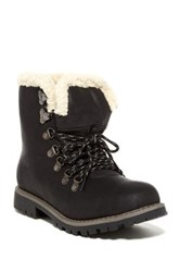 Refresh Hudson Faux Suede Boot Black