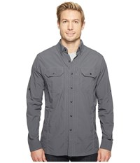 Kuhl Thrive Long Sleeve Shirt Carbon Long Sleeve Button Up Gray