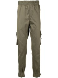 Represent Pull On Cargo Trousers Green