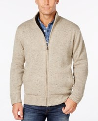Weatherproof Vintage Men's Big And Tall Lined Cardigan Only At Macy's Granite Tweed