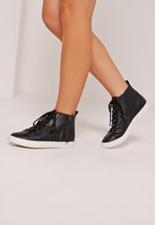 Missguided High Top Trainers Black