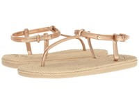 Roxy South Beach T Strap Gold Women's Sandals