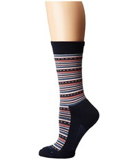 Feetures Horizon Cushion Crew Sock Navy Crew Cut Socks Shoes