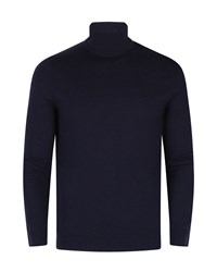 Ted Baker Rinko Wool And Cashmere Blend Roll Neck Navy