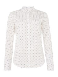 Gant Long Sleeve Shirt In Polkadot Print Pink