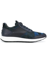 Alexander Smith Camouflage Lace Up Sneakers Blue