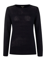 Pied A Terre Honeycomb Knit Navy