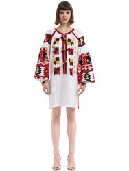 Vita Kin Magic Mix Embroidered Linen Tunic Dress