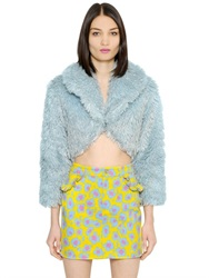 Jeremy Scott Faux Fur Bolero Jacket