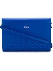 Tod's Studded Clutch Blue