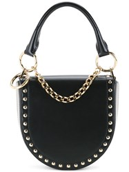 Sacai Studded Half Moon Shoulder Bag Black