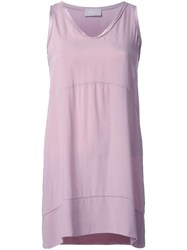Drumohr Longline Tank Top Pink Purple