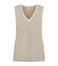 Reiss Ona Metallic Vest Female