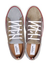 Thom Browne Nubuck Leather Low Sneakers