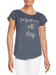Signorelli Pajamas All Day Graphic Tee Shadow