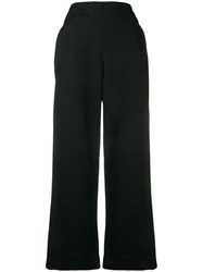 Theory Cropped Straight Leg Trousers Black