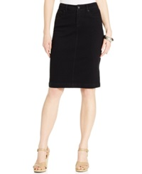 Style And Co. Denim Skirt Black Rinse Wash