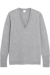 Iris And Ink Coralie Boyfriend Cashmere Sweater Gray