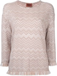 Missoni Frayed Jumper Brown