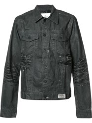 Prps Destroyed Effect Denim Jacket Black