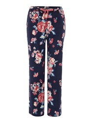Dickins And Jones Eloise Floral Trouser Navy