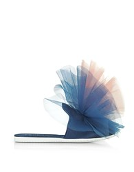 Joshua Sanders Blue And Pink Tulle Mule