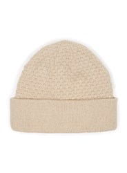 Topman Brown Stone Textured Knitted Beanie Hat