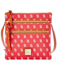 Dooney And Bourke St. Louis Cardinals Triple Zip Crossbody Bag Navy Red