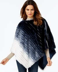 Inc International Concepts Faux Fur Ombre Poncho Only At Macy's