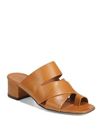 Via Spiga Fae Smooth Sandal Mules Tan