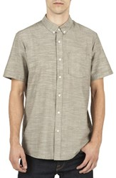 Volcom Men's Slub Oxford Shirt Military