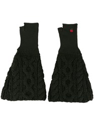 Undercover Cable Knit Gloves Black