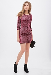 Forever 21 Sequined Sheath Dress Red