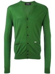 Dsquared2 Button Up Cardigan Green