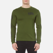Billionaire Boys Club Men's Helmet Print Long Sleeve T Shirt Olive Green