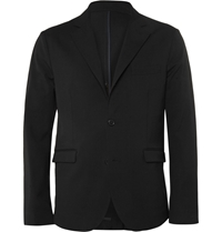 Marni Reversible Stretch Cotton And Wool Blend Jacket Gray