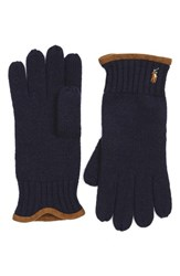 Polo Ralph Lauren Men's Classic Merino Wool Gloves Hunter Navy