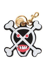 Moschino Lipstick Skeleton Leather Key Holder