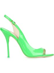 Sophia Webster 'Claudie Meadow' Sling Back Asymmetrical Pumps Green